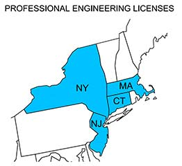 licensed in connecticut, massachusetts, new york and new jersey